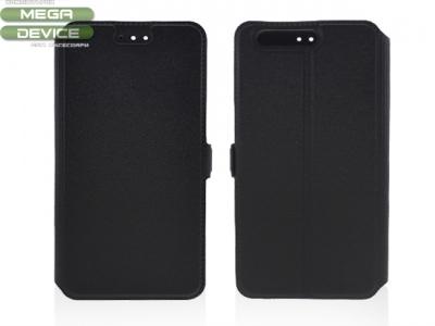 Тефтер странично отваряне за Huawei P10 Черен