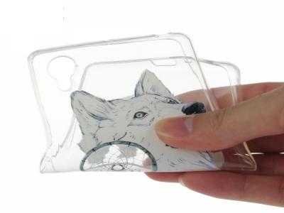 Силиконов прозрачен гръб Sony Xperia X / F5122 - Wolf