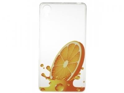 Силиконов прозрачен гръб Sony Xperia X / F5122 - Orange