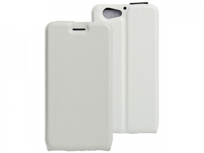 Калъф тефтер (вертикален) Vertical Flip Up and Down Design PU Leather + Soft TPU with Magnetic Buckle and Card Holder HTC One A9s - White