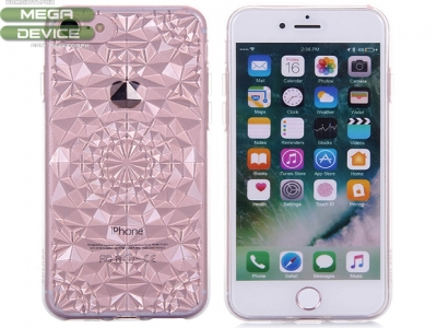 Силиконов гръб Sulada 3D Crystal Series Bling Style Soft iPhone 7 / 8 ,Бял