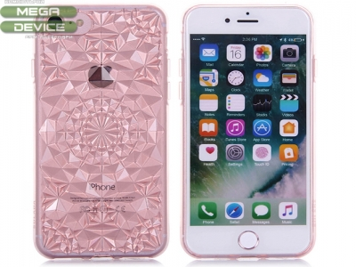 Силиконов гръб Sulada 3D Crystal Series Bling Style Soft iPhone 7, Розов