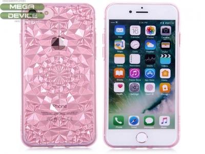 Силиконов гръб Sulada 3D Crystal Series Bling Style Soft iPhone 7 / 8 , Розово/ Червен