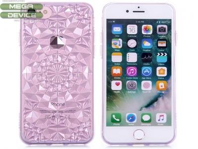 Силиконов гръб Sulada 3D Crystal Series Bling Style Soft iPhone 7 / 8,Лилав