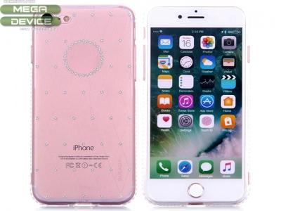 Силиконов гръб Sulada Elegant Rhinestones Series Diamond Studded Soft iPhone 7 / 8, Бял