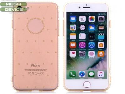 Силиконов гръб Sulada Elegant Rhinestones Series Diamond Studded Soft  iPhone 7 / 8, Златист