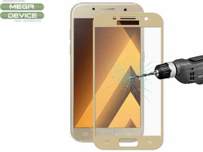 ENKAY Hat-Prince 0.26mm 9H 2.5D Explosion-proof Tempered Glass Screen Protector for Samsung Galaxy A3 2017 - Gold