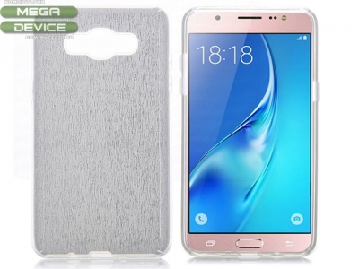 Pure Color Bling Style Glitter Powder 3 in 1 Detachable Soft TPU + Hard PC Back Cover Case for Samsung Galaxy J7 (2016) J710 - White
