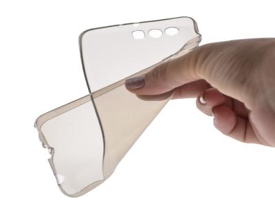 Силикон Ултра Слим - Huawei P10 Plus Black Transparent Relef