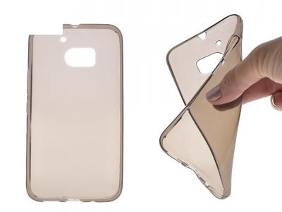 Силикон Ултра Слим - HTC 10 Lifestyle Black Transparent Relef
