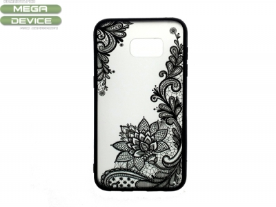 Силиконов Гръб - Samsung Galaxy S7 Edge G935 - Модел 4 (Lace Flower ) Black