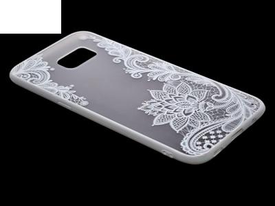 Пластмасов гръб със силиконова лайсна за Samsung Galaxy S7 Edge G935 Бял