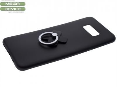 Калъф Гръб Силикон+пръстен за Samsung Galaxy S8 2017 (G950) Черен
