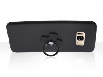 Калъф Гръб Силикон+пръстен за Samsung Galaxy S8 Plus 2017 (G955) Черен