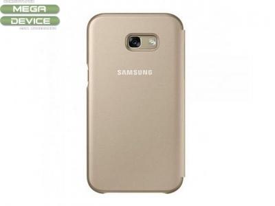 Калъф Тефтер Original Samsung Galaxy A5 2017 A520 (ef-fa520pfeg) Златист