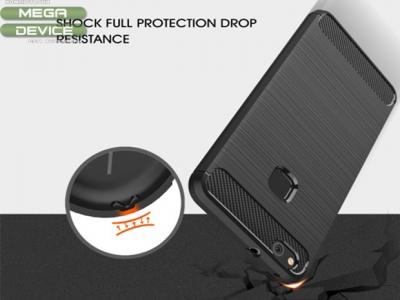 Силиконов Калъф Carbon Fibre Brushed - Huawei P10 Lite - Black