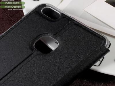 Калъф тефтер с прозорец за Huawei P10 Lite - Black
