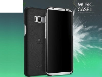 PVC Гръб с кожено покритие LENUO - Samsung Galaxy S8 Plus 2017 G955, Черен