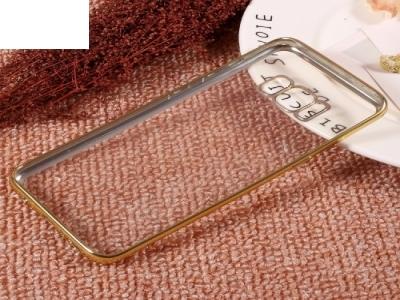 Силиконов калъф с лайсна за Samsung Galaxy S8 2017 (G950) , Златист