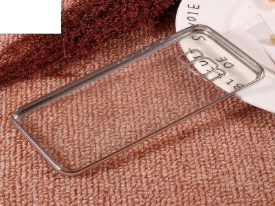 Силиконов калъф с лайсна за Samsung Galaxy S8 2017 (G950), Сребрист