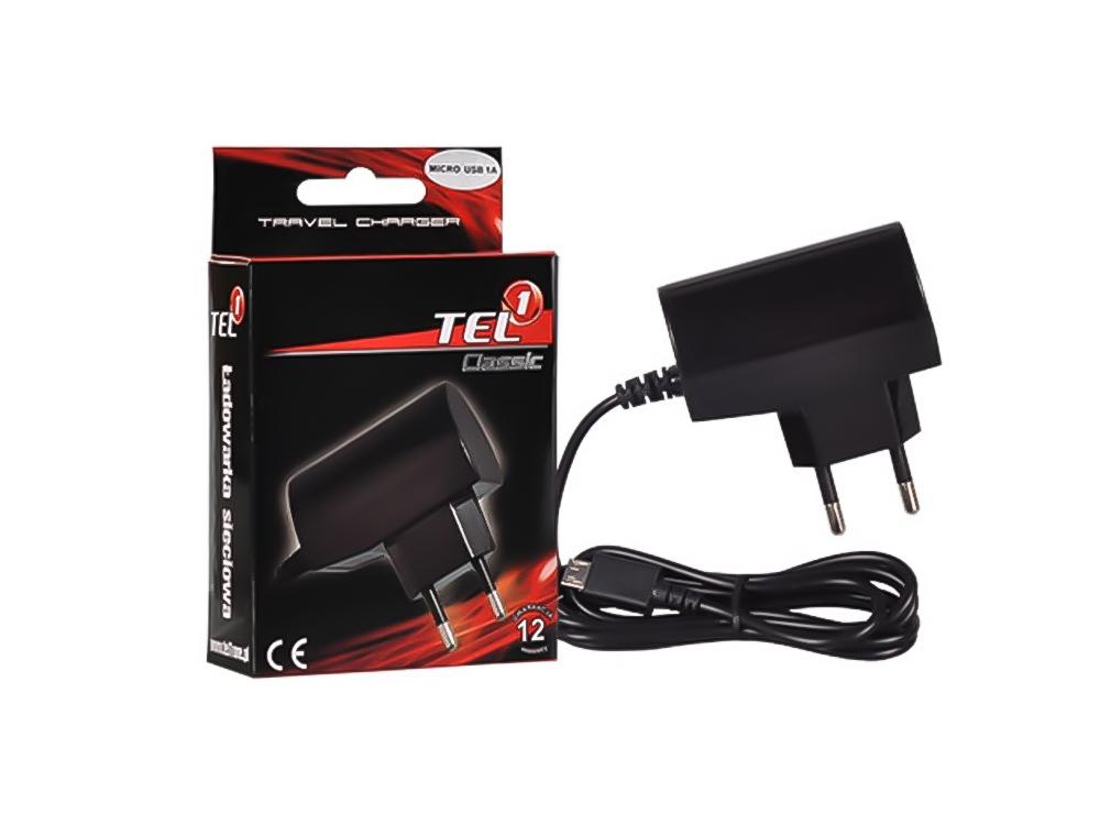 Зарядно 220v 1A + Micro USB Cable Tel1