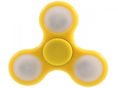 Triangle LED Fidget Spinner Fidget Focus Spinner Toy for Stress Relief ADHD - Yellow