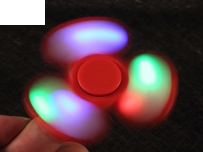 Triangle Fidget Spinner LED Hand Spinner Fidget Toy for Stress Relief ADHD - Red