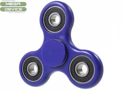 EDC Focus Toy Tri Fidget Hand Finger Bearing Spinner for ADHD Autism - Blue