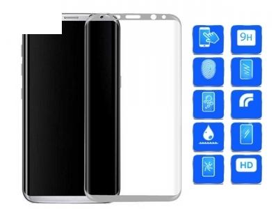 Стъклен протектор 3D Full Curved за Samsung Galaxy S8 Plus 2017, Бял