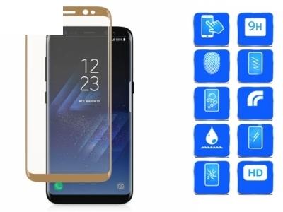 Стъклен протектор 3D Full Curved за Samsung Galaxy S8 - Gold