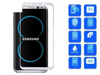 Стъклен протектор 3D Full Curved за Samsung Galaxy S8 - White