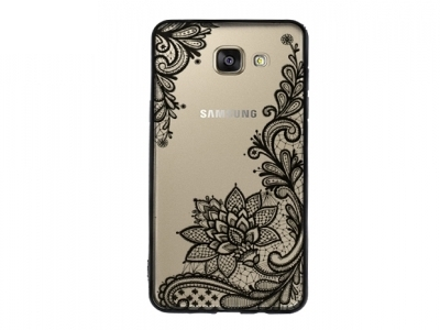 Пластмасов гръб със силиконова лайсна за  Samsung Galaxy A5 (2016) A510 Черен