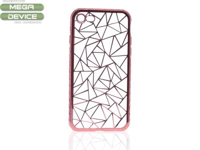 Силиконов калъф  LUXURY за Iphone 7 / 8  Розов/Златист
