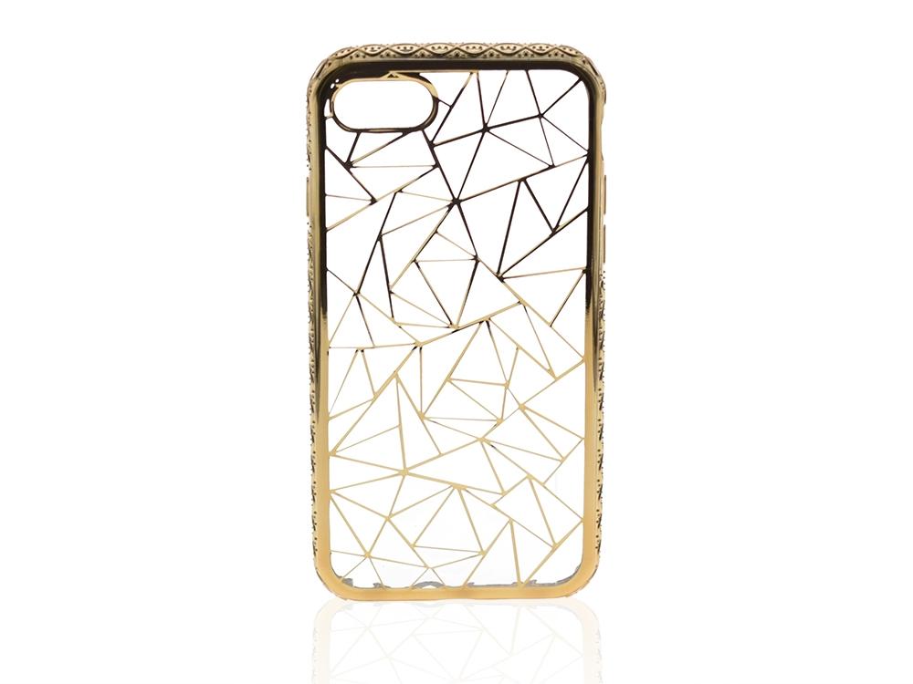 Силиконов калъф  LUXURY за Iphone 7 / 8 , Златист