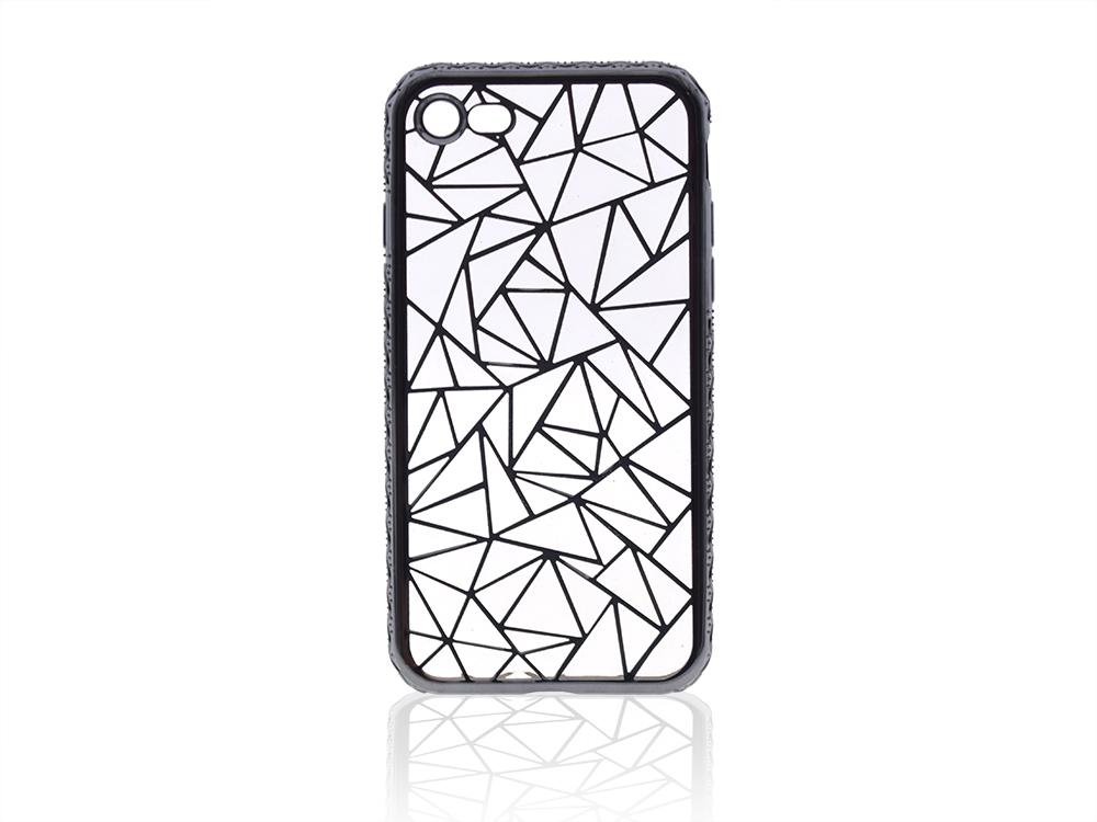 Силиконов калъф LUXURY за Iphone 7 / 8  Черен