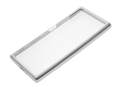 Силиконов калъф  с лайсна  CLEAR за Sony Xperia XZ Сребрист