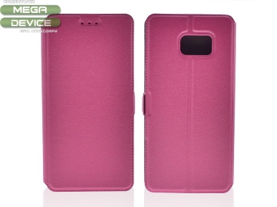 Тефтер странично отваряне за Samsung Galaxy Note 7 2016 N930 Розов