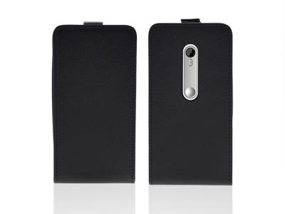 Калъф тефтер за  Motorola G 3GEN (XT1541) Черна перла
