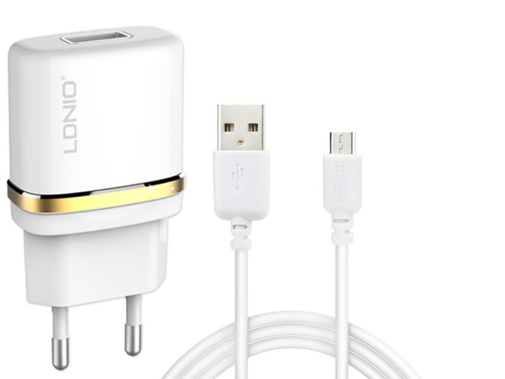 ЗАРЯДНО С КАБЕЛ 220V Charger 1A Micro USB DL-AC50