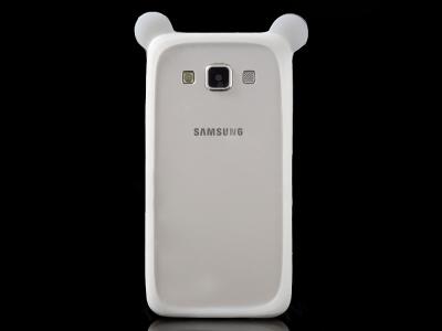 Универсална силиконова лайсна за iPhone 6 Plus / Samsung Galaxy S6 Бял