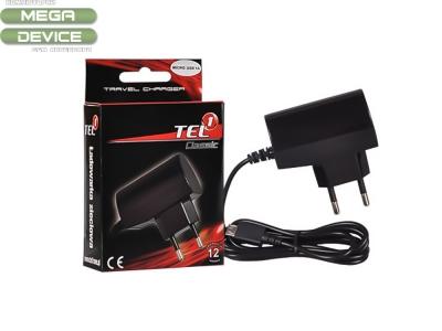 Зарядно 220V Micro USB  1A  - Tel 1, Черен