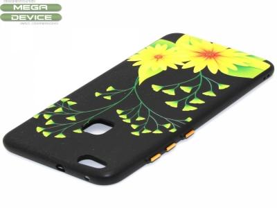 Силиконов гръб с връзка за Huawei P10 Lite Цветя