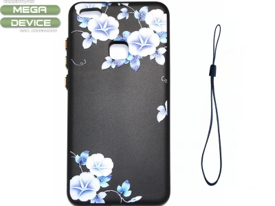 Калъф Гръб Силикон с връзка Huawei P10 Lite Цветя