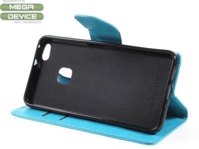 Калъф тефтер за Huawei P10 Lite Син