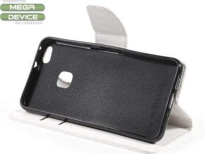 Калъф тефтер за Huawei P10 Lite Бял