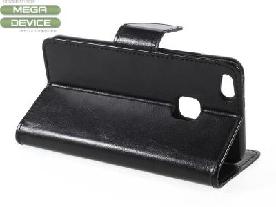 Калъф тефтер за Huawei P10 Lite Черен