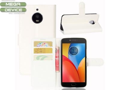 Калъф тефтер за Motorola Moto E4 Plus Бял