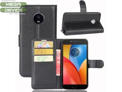 Калъф тефтер за Motorola Moto E4 Plus Черен