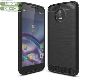 Силиконов Калъф карбон за Motorola Moto E4 Plus Черен