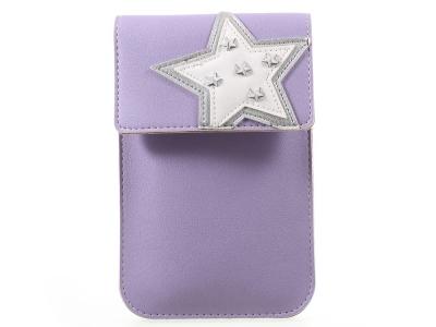 Универсална Кожена Чанта с презрамка за рамо 172  x 105 mm - Purple